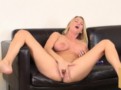 sexy blake rose displays her big hooters and takes her cunt to orgasm