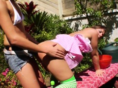Wam Milk Enema Dyke Outdoor Squirting