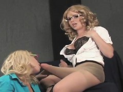 Frisky Chicks Drill The Biggest Strapons And Spray Jizz All