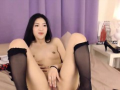 shy japanese school bitch play with pussy