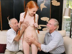 petite-redhead-fondeled-by-pervy-old-men