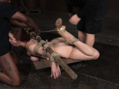 tiedup submissive facefucked after stripping lot of porn only at pornmike.com