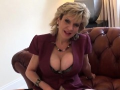 Unfaithful English Milf Lady Sonia Flashes Her Giant Puppies