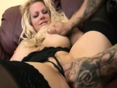Slutty Big Tit Blond Dicked In Lingerie