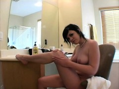 cute andi gets lonely and tries to seduce you with her sexy feet