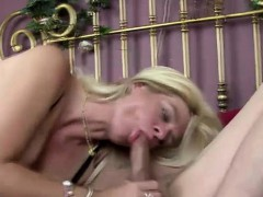 Hot Blonde Milf Punishes Lesbo Thief
