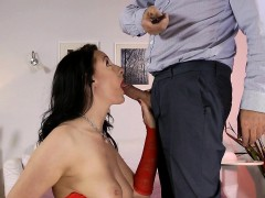 Stockings Brit Creampie