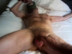 Bound And Surrounded By Hairy Penis