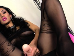tanya-loves-feeling-nylon-on-her-feet