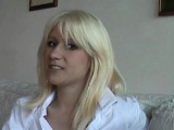Teen plays with two guys at her 1st CASTING