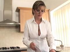Unfaithful british milf gill ellis displays her heavy hooter