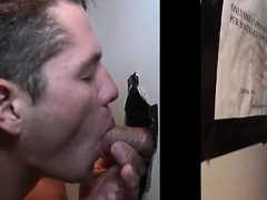 Straight Dude Gets Naked For Blowjob On Gloryhole