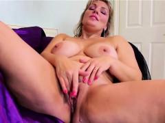 massive natural titted blonde mature masturbating