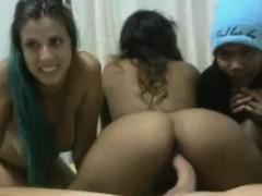 lucky dude nails three girls