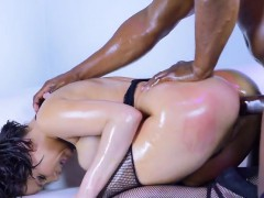 Sex Siren Aleksa Nicole Bends Over For Black Lover
