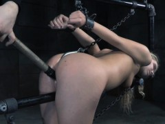 bound-bdsm-sub-dildo-fucked-with-stick-by-dom