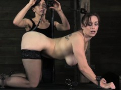 Gagged Bdsm Sub Caned While Bound