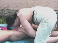 Chubby Brunette Mother Outdoors By Ginger From 1fuckdatecom