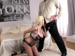 Busty Mature Blonde Rides A Thick Dong