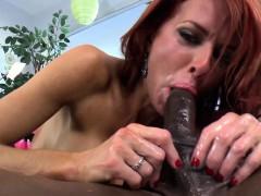 redhead dominatrix disciplines black cock