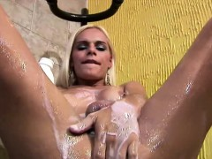 Pretty Teen Shemale Is Fingering Her Big Messy Asshole Deep