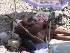 mature couple enjoying sunny days on beach – Free Porn Video