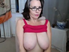 old girl shows her huge shaggy tits