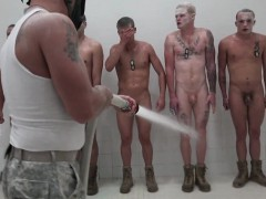 Rookie Soldiers Humiliated And Cumsprayed