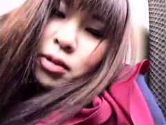Slutty Asian Schoolgirl Kneels Down And Wraps Her Lips Arou