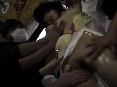 Pretty Japanese Girl Has A Group Of Wild Guys Sharing Her S