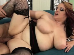 pretty fatty fucked doggystyle after titfuck