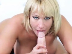 Curvy Blonde Housewife Pleasures A Massive Boner
