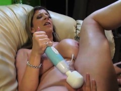 Sarah Jay has her moist snatch plugged