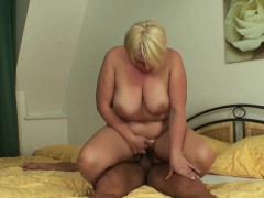 She finds busty blonde mom riding husband's cock