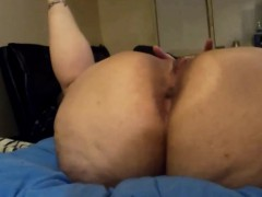 horny cheating wife masturbates for another