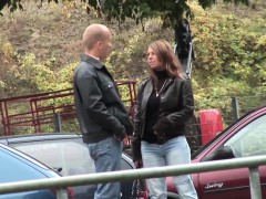 Hot Busty Milf Picked Up For Outdoor Sex