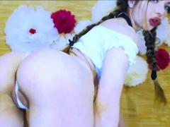 pussy-leaking-white-from-schoolgirl-in-skirt