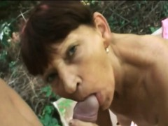 mature woman deepthroated and nailed hard in pov