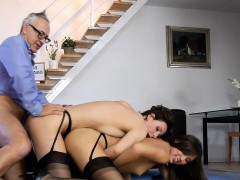Mature British Lady Trios With Young Babe