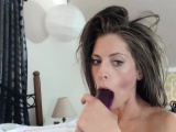 Pretty Slender Camgirl Using Toys On Webcam