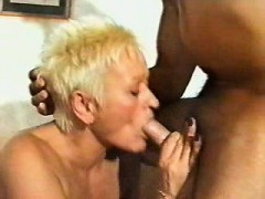 mature british granny blonde spiky hair fucked by 2 men- wtk