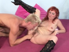 SCOUT69 – Hairy Step-Mom Seduce Young Boy To Fuck Her When Home Alone