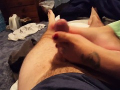 perfect footjob with fat cumshot t mozelle from dates25com