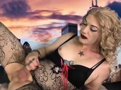 lingeried-amateur-femboi-solo-pulling-cock