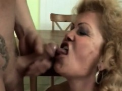 Blonde Granny Gives Head And Gets Pussy Banged