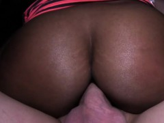 Ebony Beauty Shows Huge Tits In Public