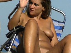 Sexy Babes Filmed Playing On The Beach