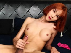 gorgeous-redhead-ladyboy-masturbates-solo