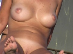 Sexy Nudist Babes Do Many Things On The Nude Beach