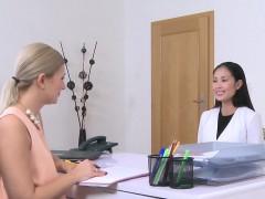 asian-babe-licks-euro-female-agent